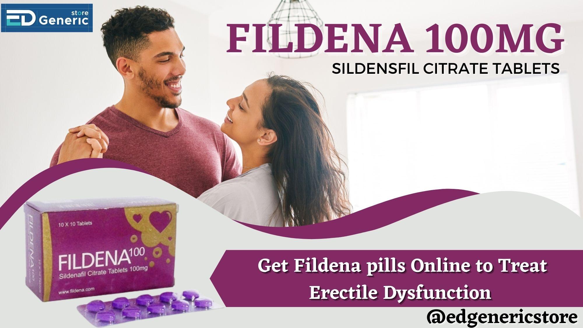 Get Fildena pills Online at Ed generic store